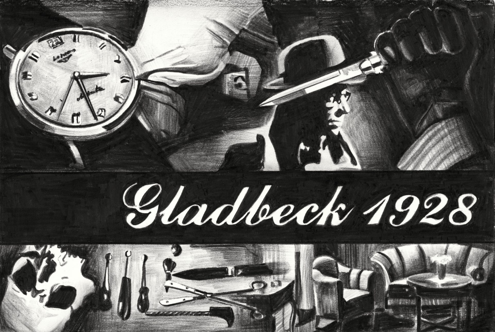 Marcel-van-Eeden-Gladbeck-1928-Nerostift-auf-Papier-2013