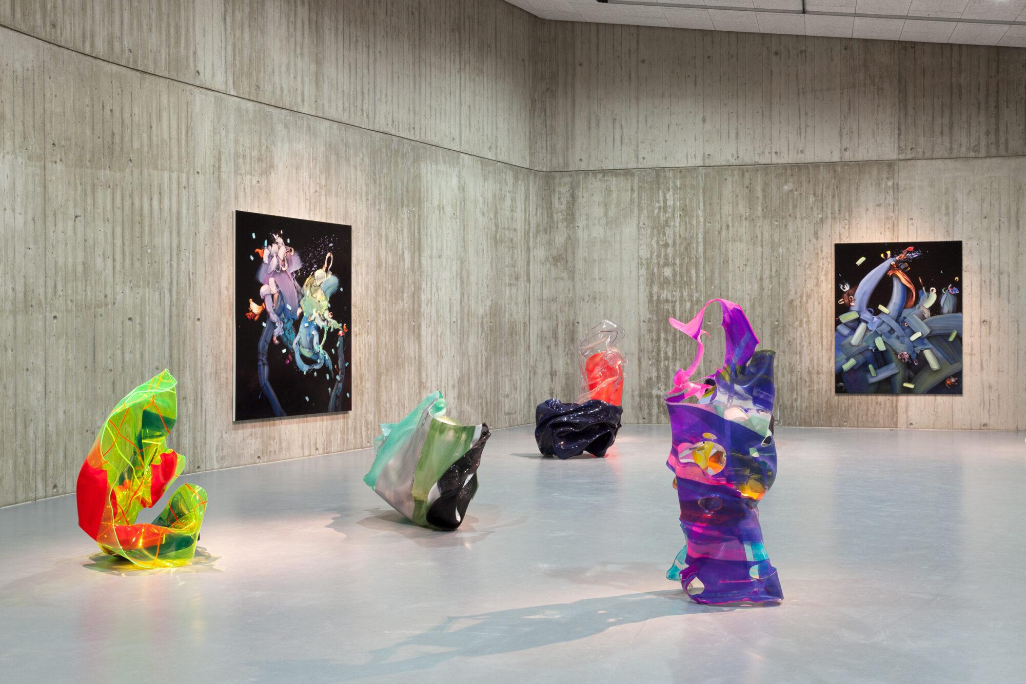 Ausstellungsansicht, »morphing«, Johanna Flammer, Paul Schwer, Neue Galerie Gladbeck, 2020 © Hanne Brandt