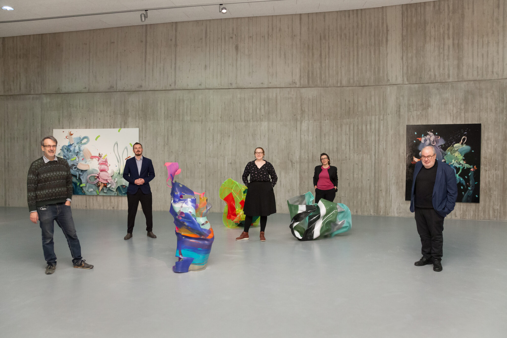 Paul Schwer, Wilko Austermann, Johanna Flammer, Kasia Lorenc und Gerd Weggel. Foto: Hanne Brandt