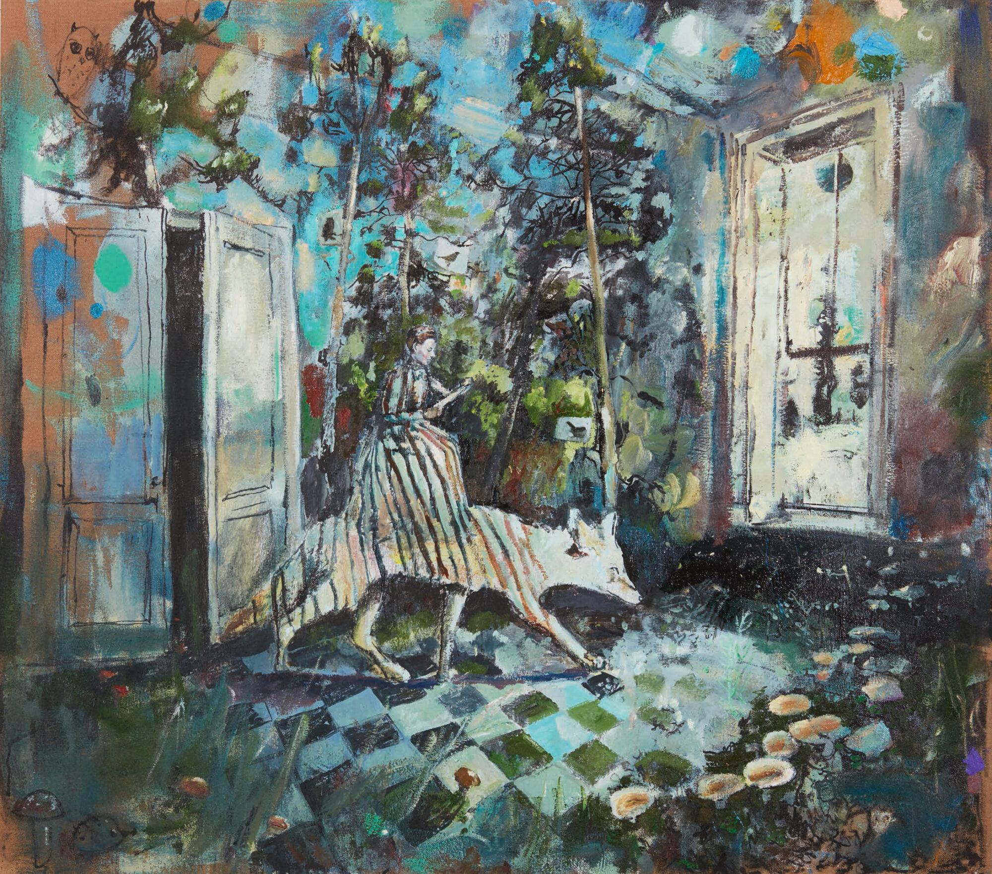 Simone Lucas Lichtung, 2021, 150 x 170 cm